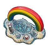 Oddity Soporte De Bebida Inflable Floaties, Soporte Inflable De La Bebida De La Nube Del Brillo Del Arco Iris, Accesorios De La Piscina Coaster De La Taza Flotante, La Piscina Flotante De La practical