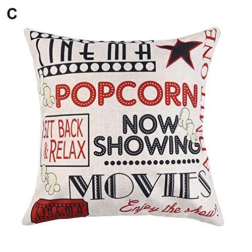 good01 Big Promotion Pillowcase,Fashion Cinema Pattern Letters Cushion...