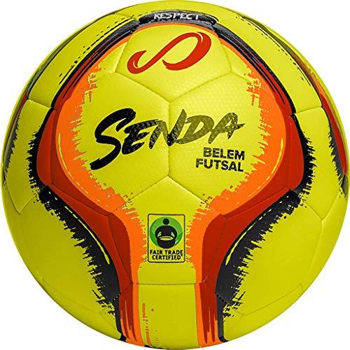 SENDA Belem Training Futsal Ball, Fair Trade Certified, Yellow/Red/Orange/Black, Size 4 (Ages 13 & Up)