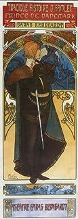 1899 Hamlet Prince of Denmark Theatre Sarah Bernhardt Show by Alphonse Mucha was a Czech Art Nouveau Painter and Decorative Artist 8