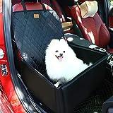 Coprisedile Impermeabile Copertura Anteriore Auto per Proteggere Sedile di Automobile Antiscivolo per Cani Gatti Animali Domestici Nero