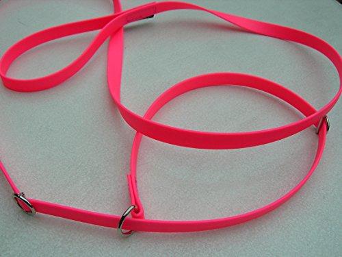 Angel for Pets MJH Moxon, Retriever Leine Beta BioThane 16mm Breit, 1,50m Lang vernäht mit Handschlaufe (Pink)