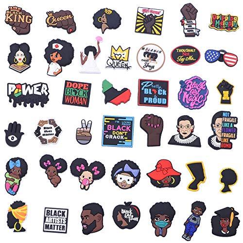 Black Lives Matter Fits Shoe Charms PVC Colg Shoes Decoration 40 60 pcs BLM 40…