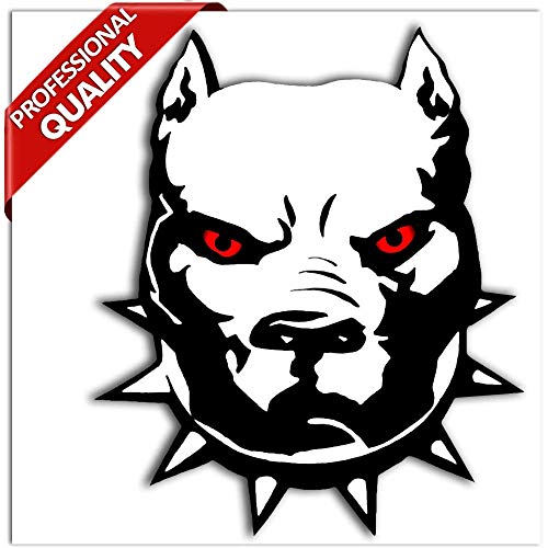 Vinyl grappige stickers autostickers stickers Angry Dog Böser hond Pitbull Auto Moto Motorfiets Skate Helm Raam Spiegel Tuning B 4