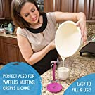 KPKitchen Pancake Batter Dispenser - Perfect Baking Tool for Cupcake, Waffles, Muffin Mix, Crepes, Cake or Any Baked Goods - Easy Pour Home Food Gadget - Bakeware Maker with Measuring Label #4