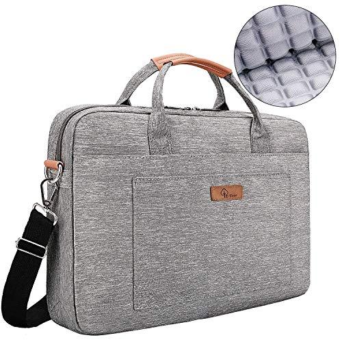 E-Tree 15-15.6 Zoll Laptoptasche Aktentaschen Handtasche Tragetasche Schulter Tasche Notebooktasche Laptop Sleeve Laptop hülle für bis zu 15-15.6 Zoll Laptop Dell Alienware/MacBook / Lenovo/HP, Grau