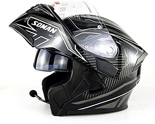 YXY Cascos con Flip-up Casco de Moto Casco de Motocicleta eléctrica Casco...
