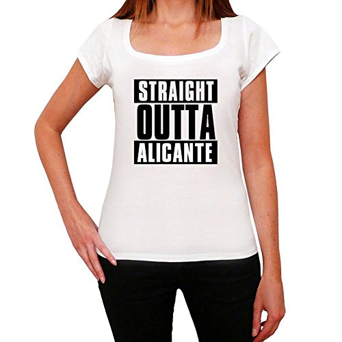 Straight Outta Alicante, t-Shirt Damen, Stadt T-Shirt, Straight Outta T-Shirt