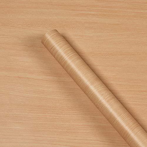 Krelymics Holzfolien Selbstklebende Folie Ahorn Dekofolie Möbelfolie Selbstklebende Abnehmbar Natur-Holzoptik Möbelfolie Folie Tapete Dekofolie für Wände Schränk Wasserdicht Möbel, 45cm×5m