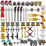Dittzz Set di Armi Militari Contiene Elmo, Armatura, Cavalcatura - Utilizzare per Minifigu...