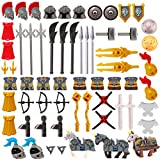SENG 66 Piezas Casco, Armadura, Custom Armas Kit Accesorios Militares para Caballeros Soldados Swat Minifiguras, Compatible con Lego