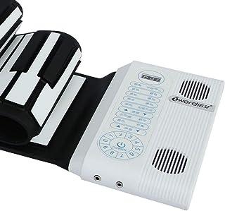 Double Speaker Key Board Hand Roll Piano 61 Key Midi Piano Portable Piano Childrens' Digital Piano (Color : 61 key)