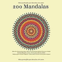 200 Mandalas Libro de colorear para niños