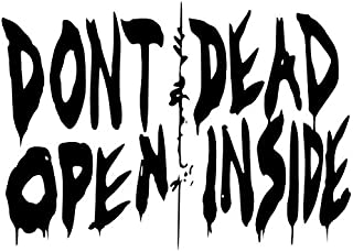 Dont Open Dead Inside Decal 5 inch BLOOD RED Indoor | Walking Dead | Zombie Lucielle| Baseball Bat Barbed Wire |Truck SUV Motorcycle Helmet Vans| Wall Art | Laptop Notebook Tablet Macbook
