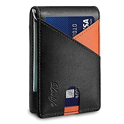 Amazon - 20% Off on Mens Wallet with Money Clip Slim RFID Front Pocket Wallets for Men Up To 12 Cards Credit Card Holder
