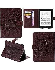 DodoBuy Samsung Galaxy Tab A 10,1 tum 2019 T510/T515 fodral solrosmönster PU läder flip smart fodral plånbok med ställ korthållare för Samsung Galaxy Tab A 10,1 tum 2019 T510/T515 – brun