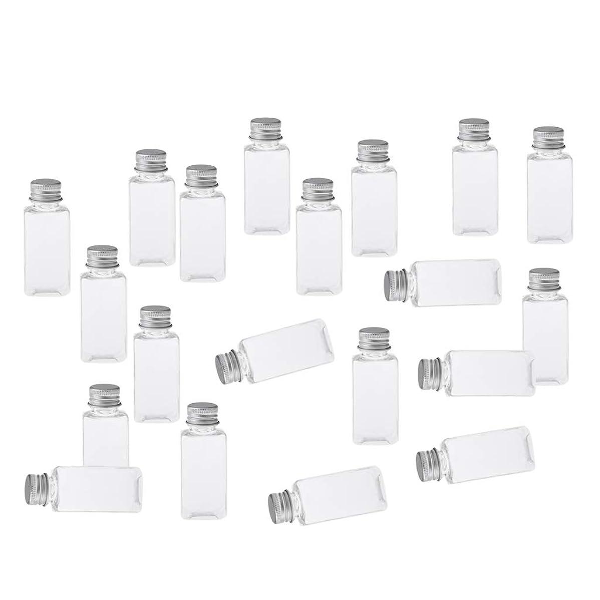 トランジスタ侵入する豊富なB Baosity 約20本 メイクアップボトル 30ミリリットル コスメ 詰替え容器 8色選べ - クリアシルバー