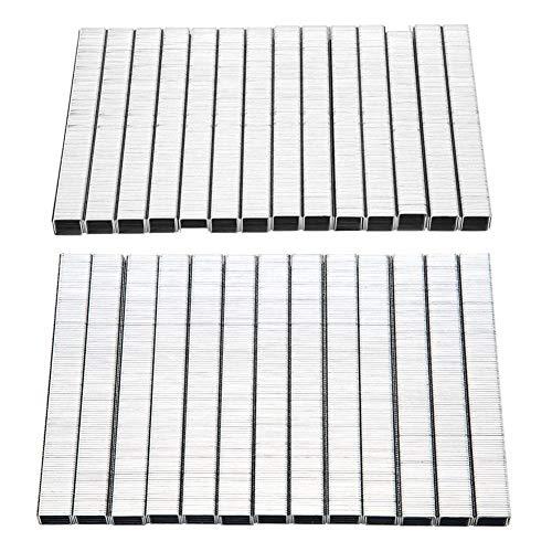 Zent 3250Pcs Uneumática eléctrica neumática U/en Forma de PuertaHerrajes de Acero para Clavos Clavos paraGrapadora, 1008F