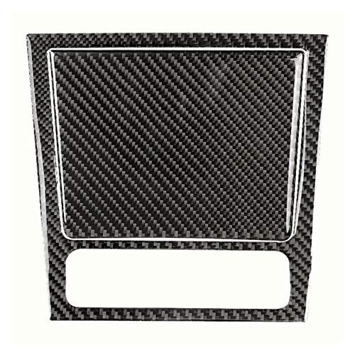 Danghe Cubierta del Panel de Almacenamiento del Centro Delantero del Centro de la Textura de la Fibra de Carbono Ajuste para el Golf 6 MK6