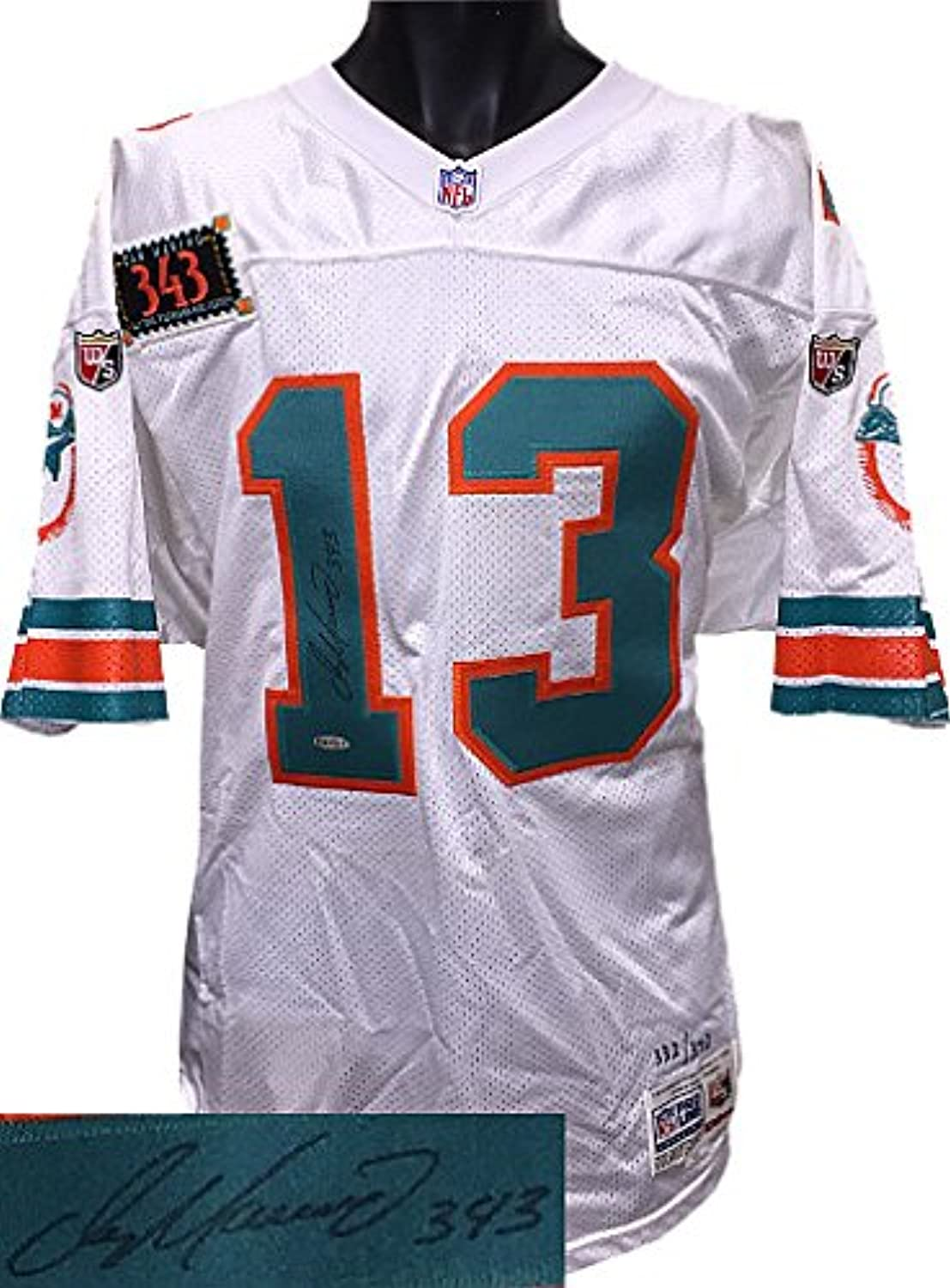 Dan Marino signed Miami Dolphins Wilson White TB NFL Authentic On Field Jersey w  343 Patch  332 Upper Deck Hologram