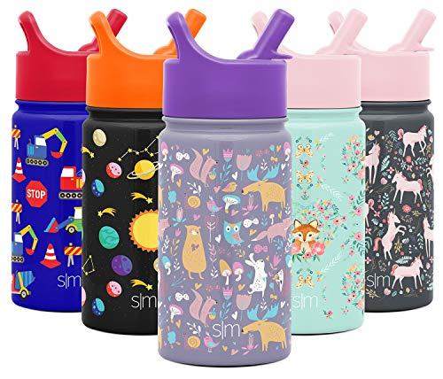 Simple Modern 415mL Summit Trinkflasche mit Strohdeckel - Hydro Thermoskanne Thermosflashe Wasserflasche Flask Geschenke für Kinder Sport Isolierflasche vakuumisoliert- doppelwandig- Edelstahl 18/8