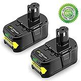 [2 Packs] Boetpcr P108 18V 5,0Ah Li-ion Remplacement de Batterie Pour Ryobi 18V ONE+...