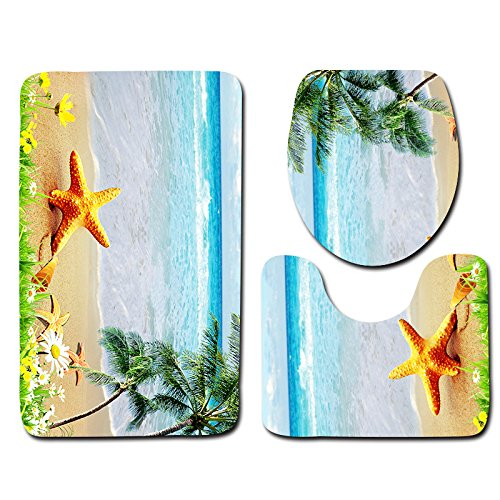 DREAMING-Playa Serie Baño Piso Estera Baño De Tres Piezas