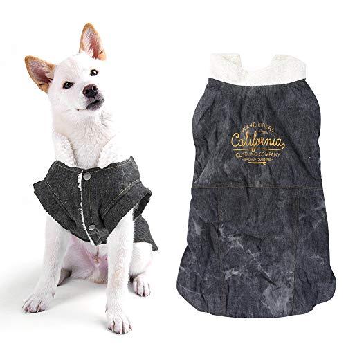 SALUTUYA Vestido para Perros Trajes Masculinos Ropa para Perros y Gatos Disfraz casero, para Uso Informal de(Black, XS)