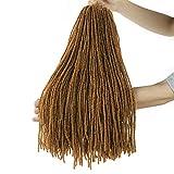 18inch Goddess Sister Locs Crochet Braids Micro Straight Faux Locs Crochet Hair NuLocs Twist Braids Syntehtic Hair Extension (5Packs,#27)