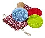 Charming Boxes - set di stampi per biscotti, 3 stampi in silicone con supporto in legno e sacchetto di cotone per la conservazione, fantastico regalo di Pasqua!