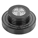 Estink Abrazadera de Disco giratoria con estabilizador de Peso de Disco de Vinilo L-P, con gradienter de Alta precisión, Almohadilla de Base Suave, Soporte 50Hz/60Hz y 33rpm/45rpm(Negro)
