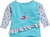 Schnizler Baby-Mädchen Sweat-Shirt Interlock Vögelchen Langarmshirt, Türkis (Türkis 15), 74