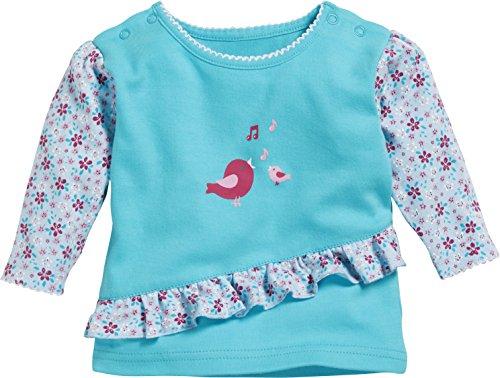 Schnizler Baby-Mädchen Sweat-Shirt Interlock Vögelchen Langarmshirt, Türkis (Türkis 15), 68