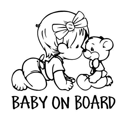 KUNFINE Coche de Estilo de la etiqueta engomada bebé a bordo del coche calcomanía de vinilo calcomanía de la decoración de la película del coche DIY pegatina Tuning partes