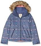 Roxy Jet Ski - Chaqueta para niña, Niños, Abrigo de vestir, ERGTJ03053, Crown Blue_Indie Stripes, XXL