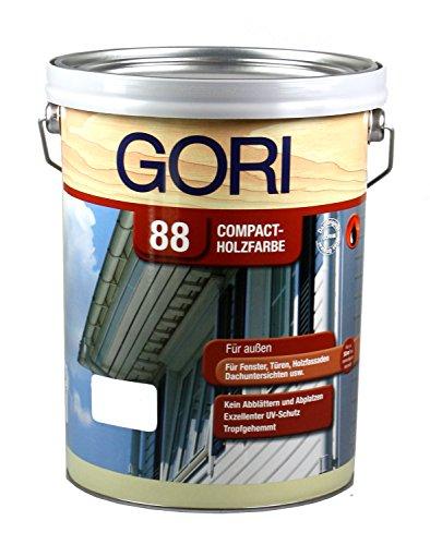 GORI 88 Compact-Holzfarbe 5L 8855 Polarweiss Holzfarbe Deckend