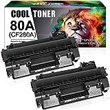 Cool Toner Compatible Toner Cartridge Replacement for HP 80A CF280A 80X CF280X HP Laserjet Pro 400 M401n M401dn MFP M425dn M401dne M401dw M425dw Laserjet Pro 400 M401 M425 Toner Ink (Black, 2-Pack)