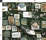 Spoonflower Stoff – Buchstaben Schnecke Post Pal Vintage