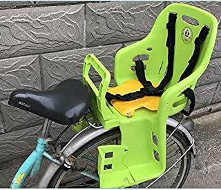 GYR Bike seat for Kids on Adult Bike, Children Bike Seat Bicycle Back Seat Adjustable Child Bike Carrier Seat for Bicycle MTB Road Bike Blue Green