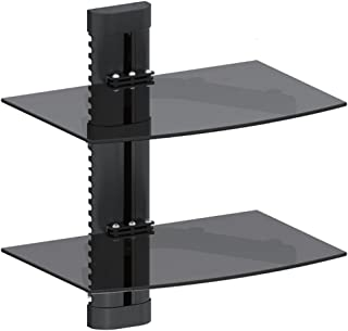 Maclean MC-662 - Soporte de Pared para Reproductores de DVD y receptores (2 estantes), Color Negro
