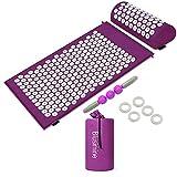 Kit de acupresión, esterilla acupresión y cojín bolsa nailon anillo el mejor regalo para hombres mujeres relajar cuerpo, hacer fitness aliviar dolor