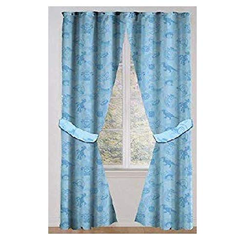 Toy Story Drapes Kids Window Panel Curtains with Tie Backs (Blue)