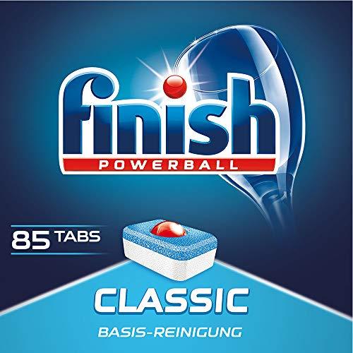 Finish Classic Spülmaschinentabs, Geschirrspültabs für Basis Reinigung, Geschirrspülmittel Tabs, XXL Pack, 85 Tabs