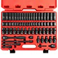 "Neiko 02471A 3/8"" Standard and Deep Drive Impact Socket Set 67 pcs 