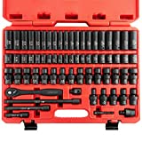 """Get Neiko 02471A 3/8"""" Standard and Deep Drive Impact Socket Set 67 pcs 