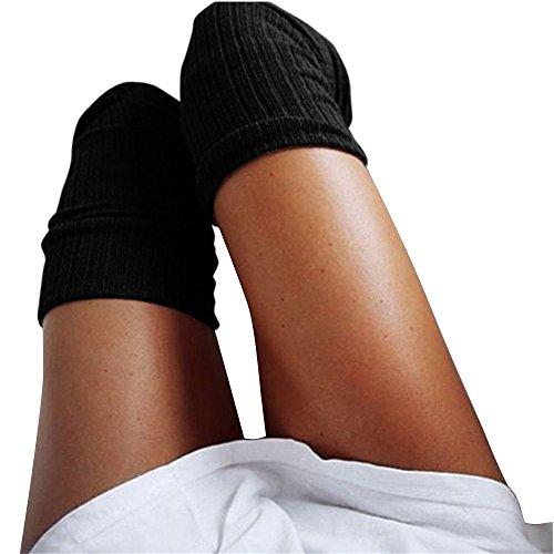 Cuteelf Damen Kniestrümpfe Overknees Lange Strümpfe Warme Knitting High Knee Socks Mädchen Sport Socken Leggings Yoga Kniestrümpfe Overknee Lange Socken