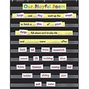 Scholastic Durable Classroom Pocket Chart, Black (573277) (Pocket Charts)