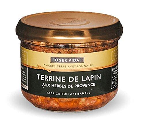 Roger Vidal - Pastete Kaninchen mit Kräutern der Provence (Terrine de Lapin aux Herbes de provence) 180 g