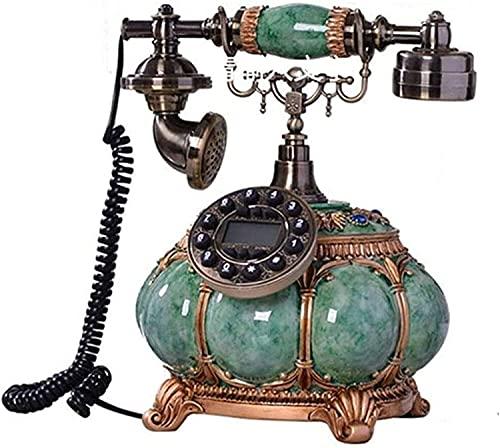 MUZIDP Teléfono Antiguo Home Home Office Decoración Teléfono Vintage con Pantalla LCD Teléfono de cerámica Línea Fija Creativo Teléfono Decorativo Decorativo