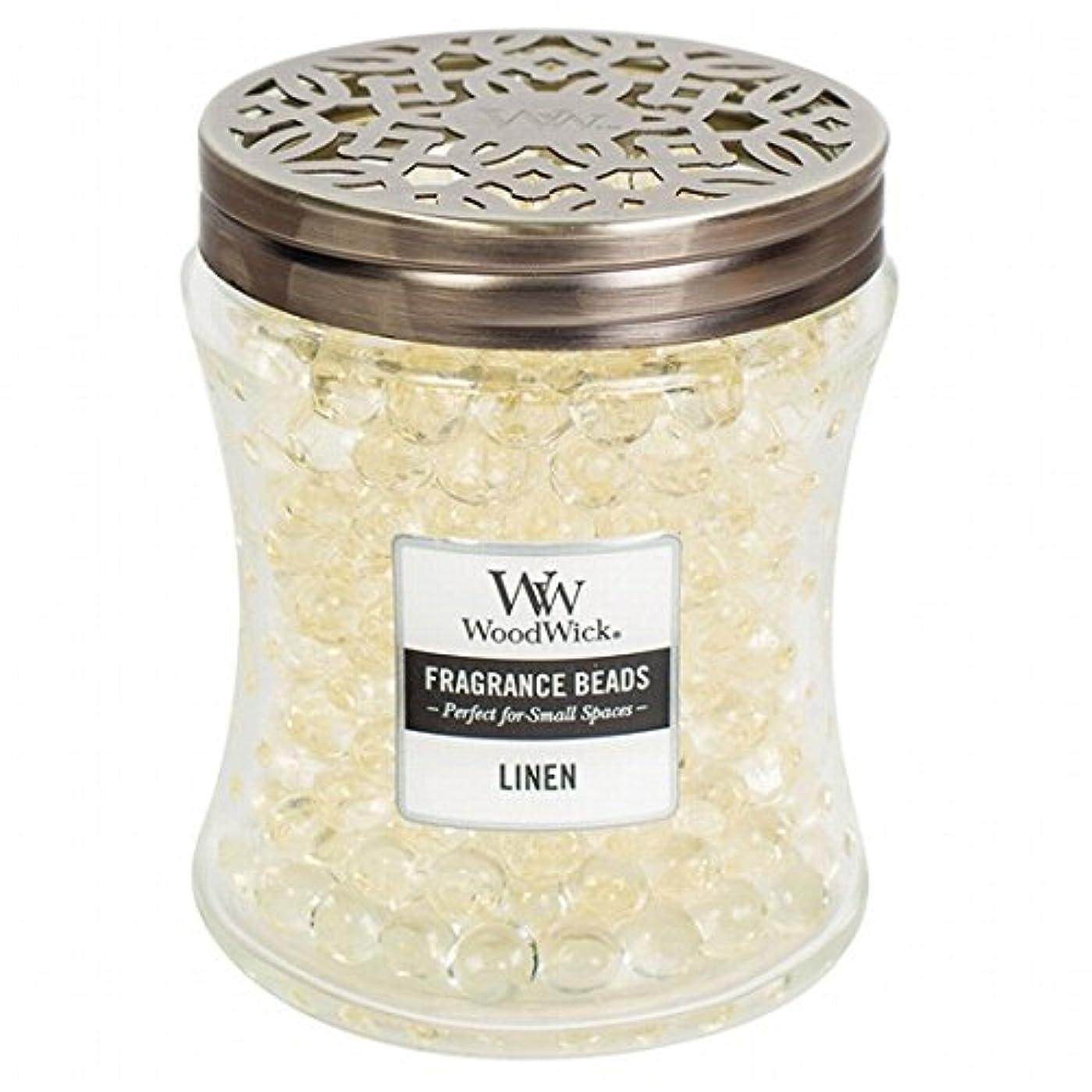 透ける酸っぱい喜ぶウッドウィック( WoodWick ) Wood Wickフレグランスビーズ 「 リネン 」W9620512